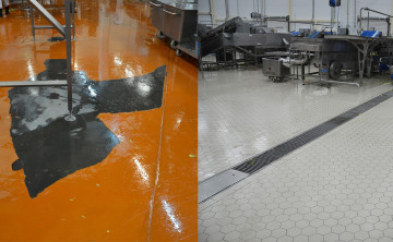 Реконструкция промышленных полов на производствах. Керамические промышленные полы после реконструкции