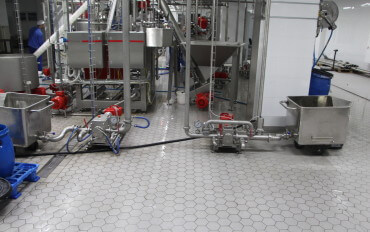 Кислотостойкие и химически стойкие керамические полы. Кислотоупорные промышленные полы.