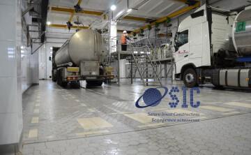 Эксплуатация промышленных полов SIC на молочном производстве. Промышленные полы Argelith.